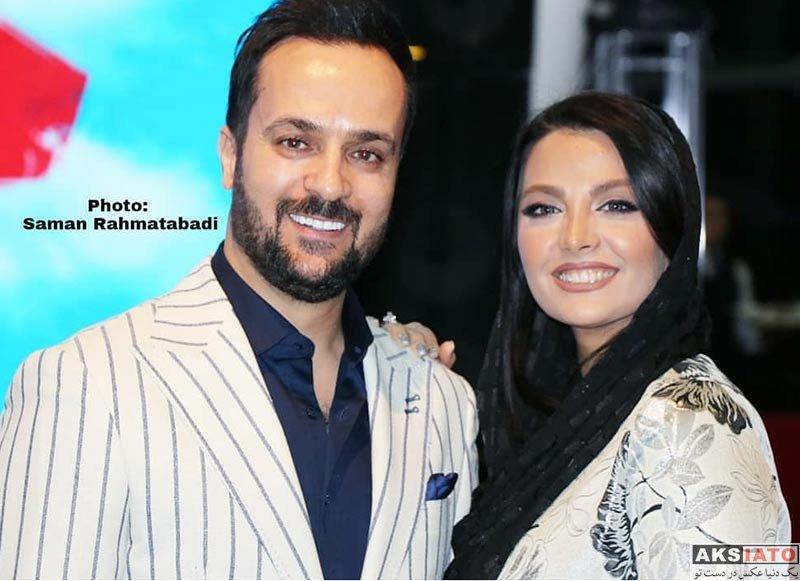 بازیگران بازیگران مرد ایرانی خانوادگی  احمد مهرانفر و همسرش در اکران خصوصی فیلم خجالت نکش (6 عکس)