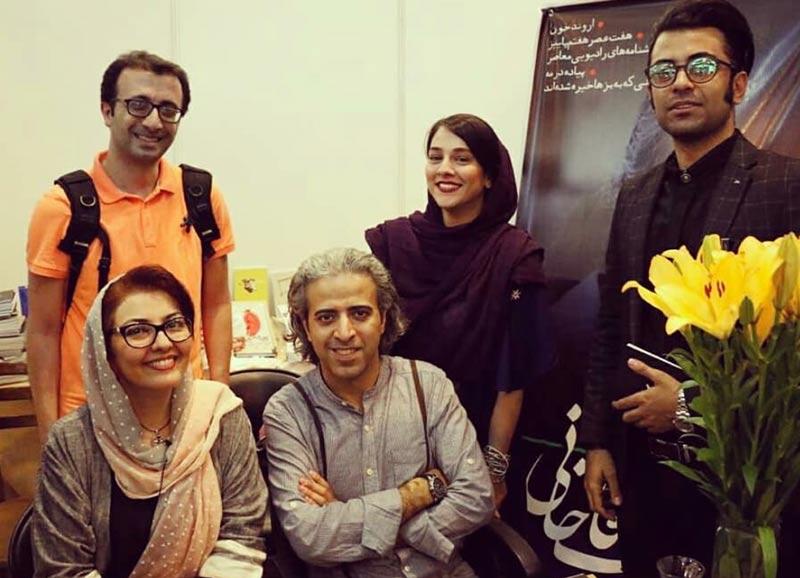 بازیگران بازیگران زن ایرانی  آناهیتا همتی در سی و یکمین دوره نمایشگاه کتاب تهران (۴ عکس)