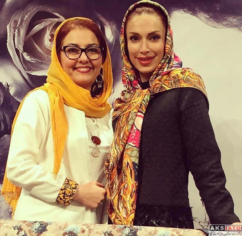 بازیگران بازیگران زن ایرانی  آناهیتا همتی در اجرای نمایش سورپرایز غلیظ (3 عکس)