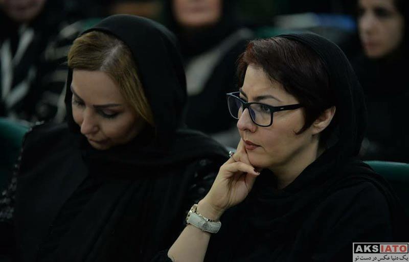 بازیگران بازیگران زن ایرانی  آناهیتا همتی در مراسم ختم زنده یاد ناصر ملک مطیعی (4 عکس)