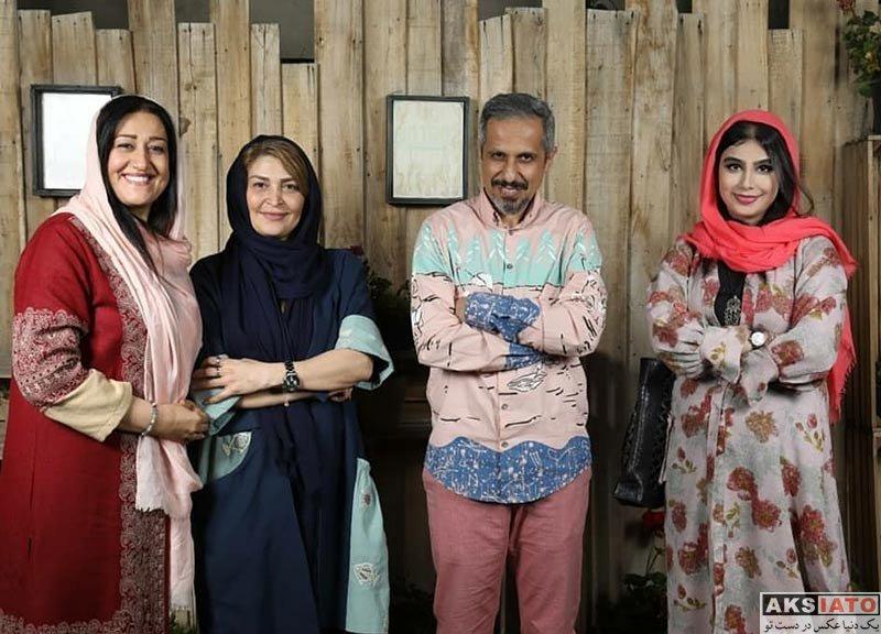 بازیگران بازیگران زن ایرانی  آذین رئوف در دورهمی هنرمندان در گالری کافه (۳ عکس)