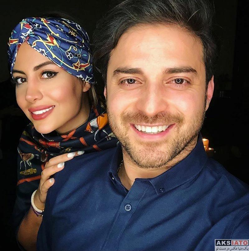 بازیگران  عکسهای بابک جهانبخش و همسرش در اردیبهشت ماه 97 (8 تصویر)