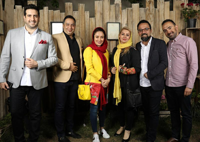 بازیگران بازیگران زن ایرانی  بهاره افشاری در دورهمی هنرمندان در گالری کافه (۳ عکس)
