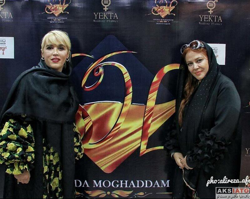 بازیگران بازیگران زن ایرانی  بهاره رهنما و همسرش در افتتاحیه سالن زیبایی شیدا مقدم (3 عکس)
