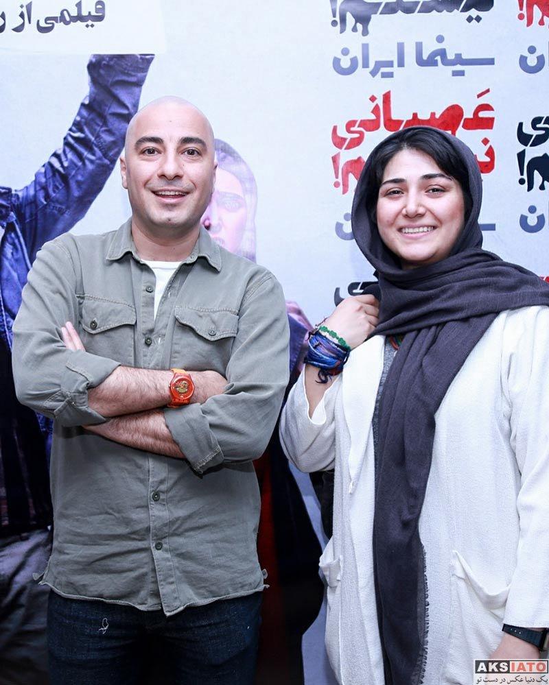 بازیگران بازیگران زن ایرانی  باران کوثری و نوید محمدزاده در اکران فیلم عصبانی نیستم (5 عکس)