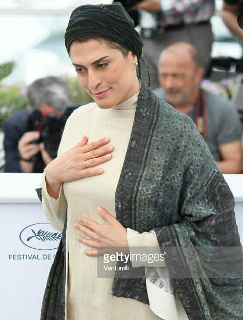 بازیگران بازیگران زن ایرانی  بهناز جعفری در مراسم فتوکال فیلم سه رخ در جشنواره کن (۵ عکس)