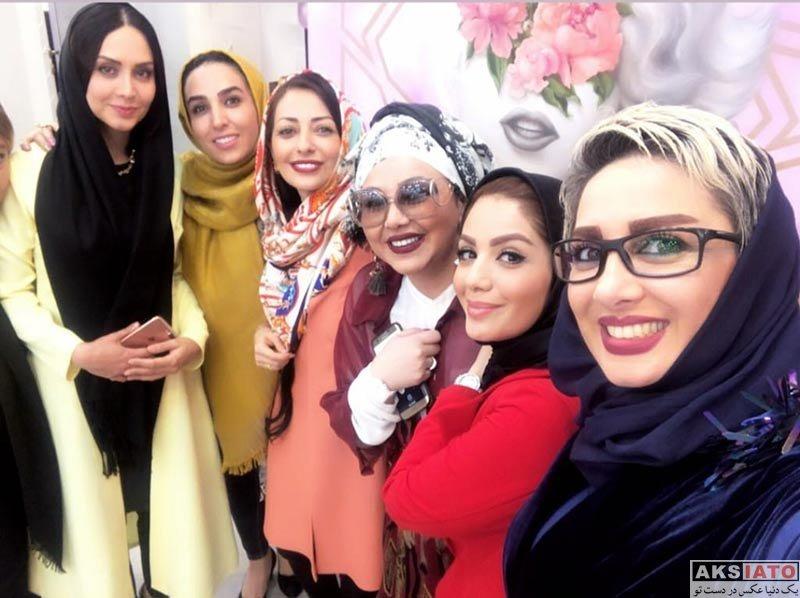 بازیگران بازیگران زن ایرانی  بهنوش بختیاری در ایونت سالن زیبایی مینل (۴ عکس)