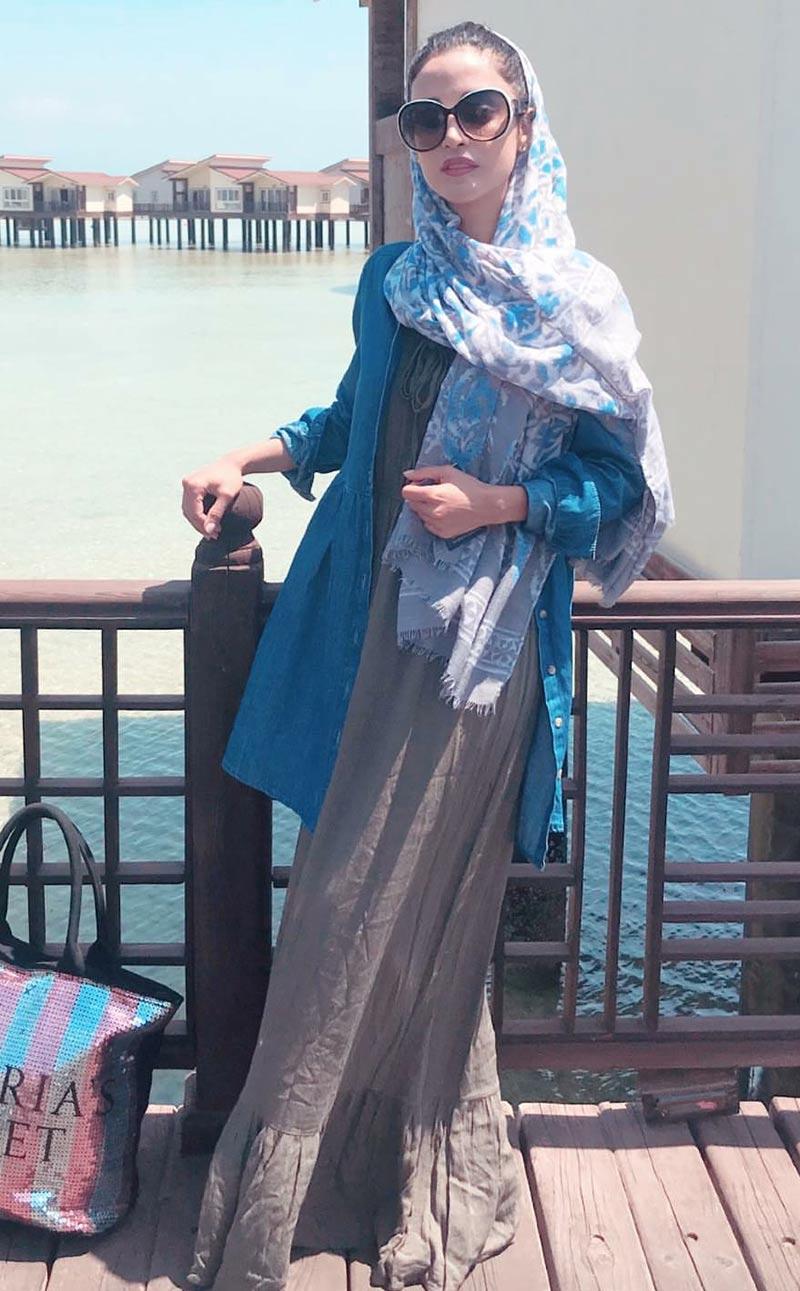 بازیگران بازیگران زن ایرانی  الهه حصاری در هتل ترنج در جزیره کیش (3 عکس)