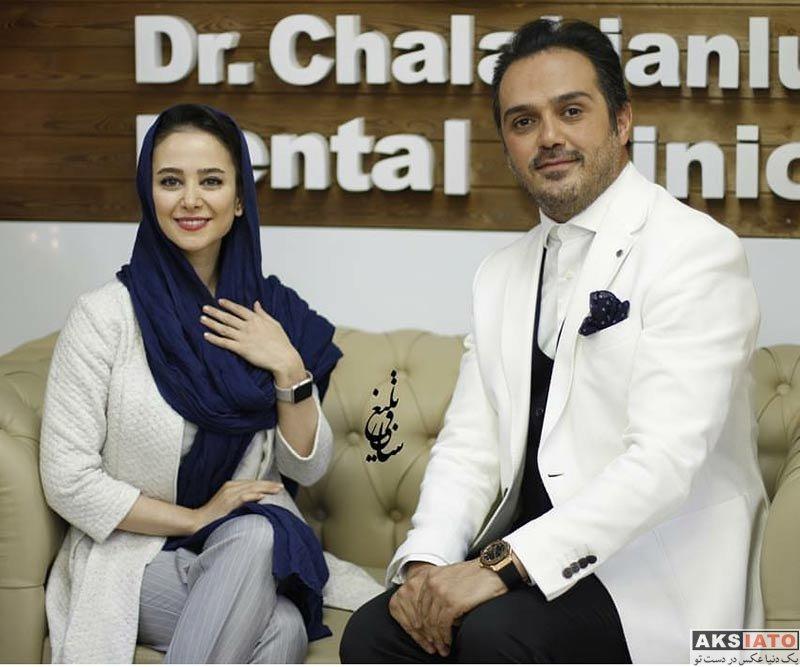 بازیگران بازیگران زن ایرانی  الناز حبیبی در افتتاحیه کلینیک دندانپزشکی دکتر چلبیانلو (4 عکس)