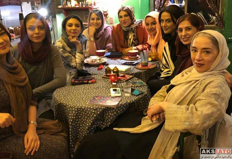 بازیگران بازیگران زن ایرانی  دورهمی هانیه توسلی با اعضای تیم اسکواش هنرمند (3 عکس)