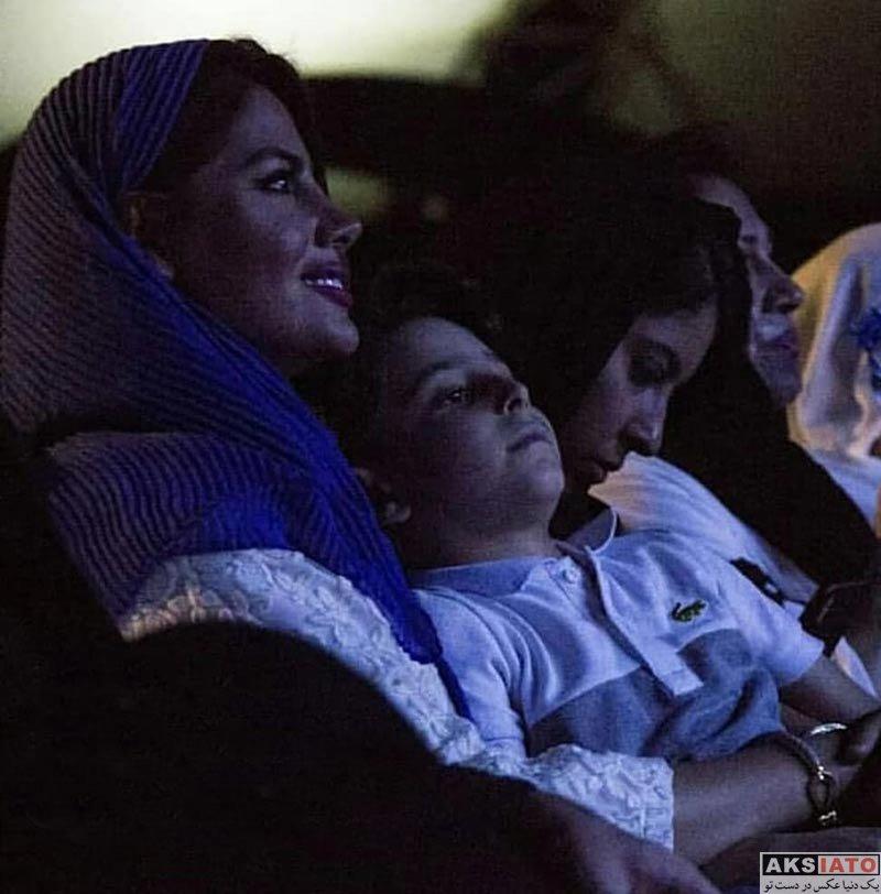 خانوادگی خوانندگان  همسر و پسر بابک جهانبخش در کنسرت کیش (3 عکس)