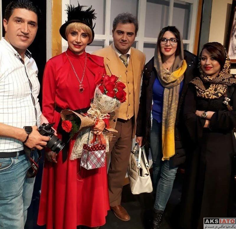 بازیگران بازیگران زن ایرانی  لیلا بلوکات در اجرای نمایش دپوتات (3 عکس)