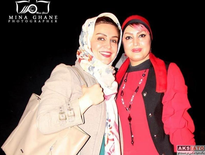 بازیگران بازیگران زن ایرانی  ماه چهره خلیلی در اجرای نمایش عشق لرزه (3 عکس)
