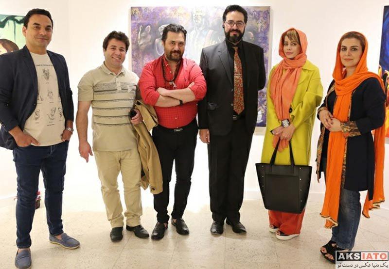 بازیگران بازیگران زن ایرانی  ماه چهره خلیلی در نمایشگاه نقاشی ماهیار چرمچی (3 عکس)