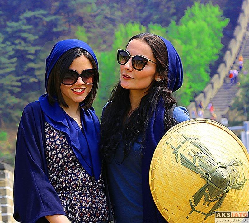 بازیگران بازیگران زن ایرانی  ماهور الوند بر روی دیوار بزرگ چین (4 عکس)