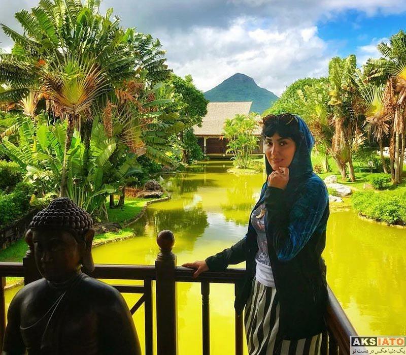 بازیگران بازیگران زن ایرانی  عکس های مریم معصومی در جزیره موریس (5 تصویر)