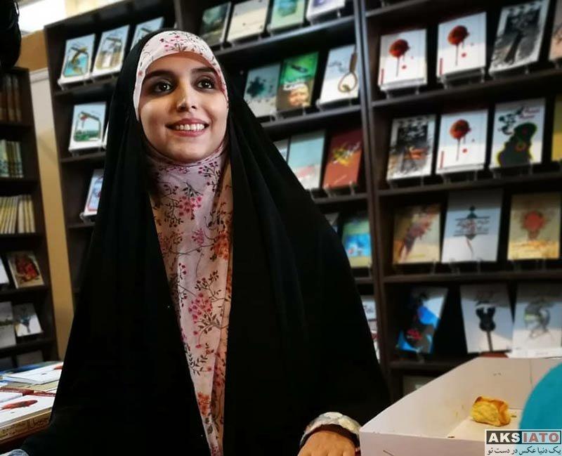 بازیگران مجریان  مژده لواسانی در سی و یکمین نمایشگاه بین المللی کتاب تهران (3 عکس)