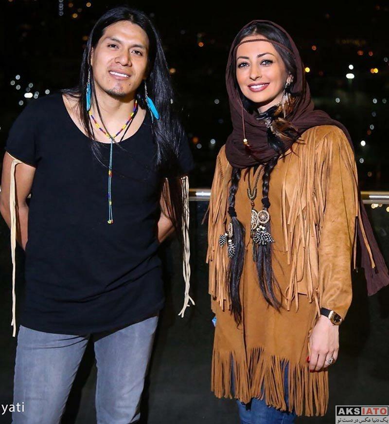 بازیگران بازیگران زن ایرانی  نفیسه روشن در کنسرت لئو روخاس (3 عکس)