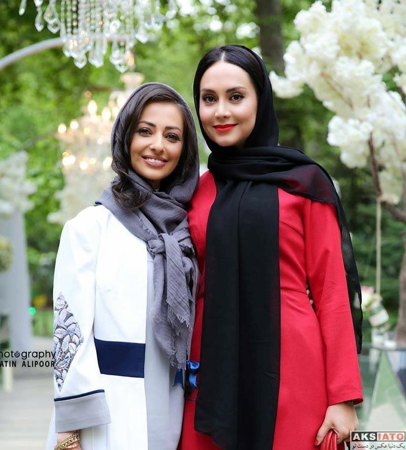 بازیگران بازیگران زن ایرانی  نفیسه روشن در مراسم رونمایی از عطر بهاره رهنما (5 عکس)
