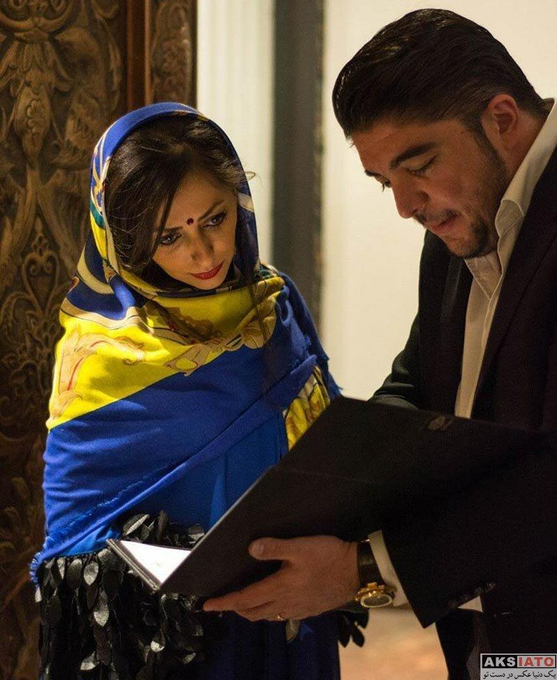 بازیگران بازیگران زن ایرانی  نفیسه روشن در رستوران تاج محل (3 عکس)