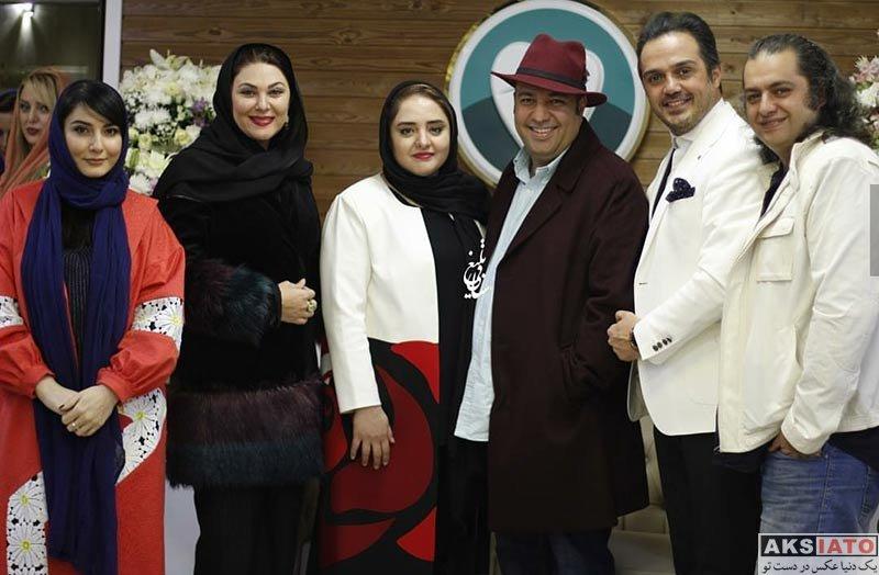 بازیگران بازیگران زن ایرانی  نرگس محمدی در افتتاحیه کلینیک دندانپزشکی دکتر چلبیانلو (۴ عکس)