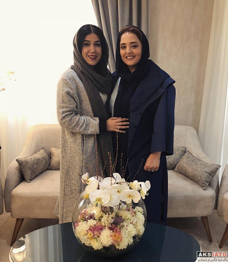 بازیگران بازیگران زن ایرانی  نرگس محمدی در سالن زیبایی مریم متقیان (2 عکس)