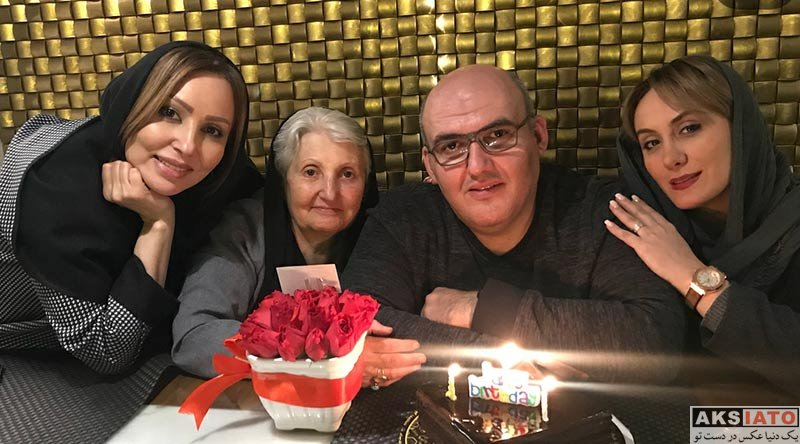 بازیگران بازیگران زن ایرانی  پرستو صالحی و خانواده اش در تولد برادرش (3 عکس)