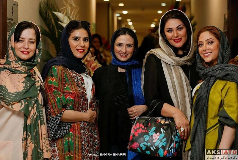 بازیگران بازیگران زن ایرانی  سحر دولتشاهی در افتتاحیه سالن زیبایی شیمر ۲ (۳ عکس)