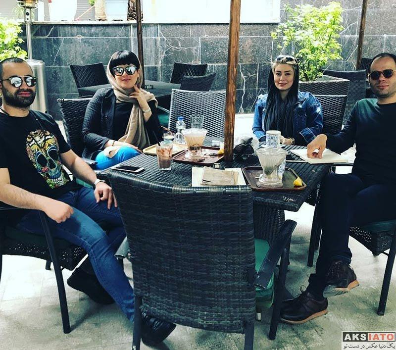 بازیگران بازیگران زن ایرانی  دورهمی سحر قریشی به همراه دوستانش در یک کافه