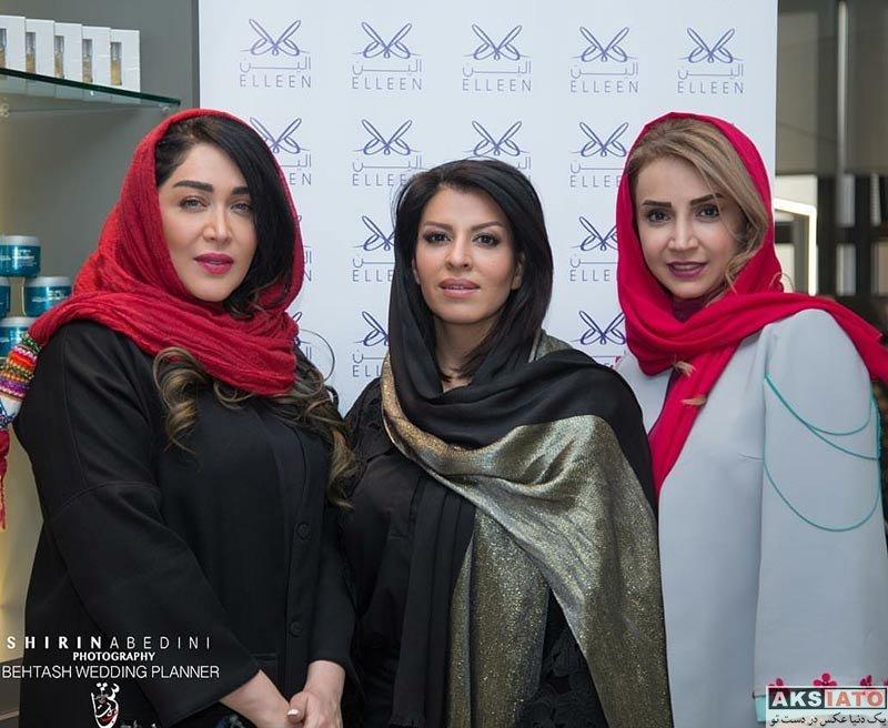 بازیگران بازیگران زن ایرانی  سارا منجزی در افتتاحیه سالن زیبایی الین (۳ عکس)