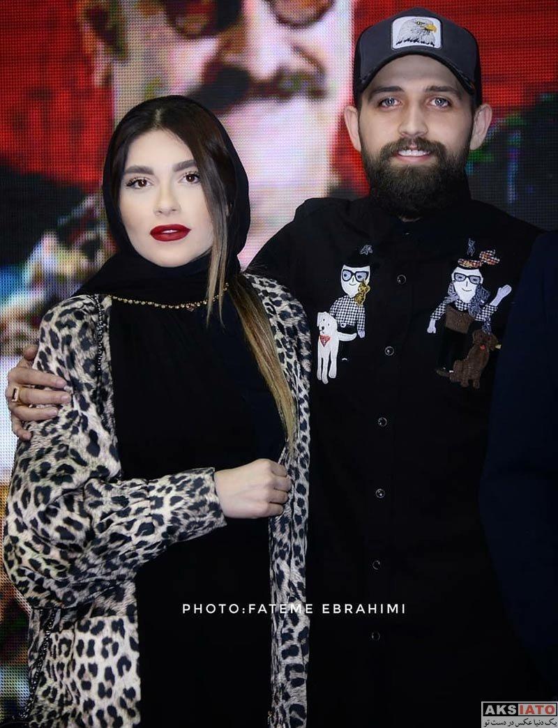 بازیگران بازیگران مرد ایرانی خانوادگی  محسن افشانی و همسرش در جشن سریال ساخت ایران ۲ (5 عکس)