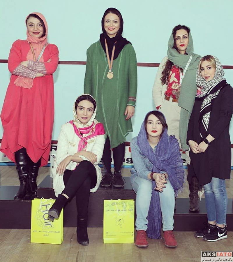 بازیگران بازیگران زن ایرانی  شبنم فرشادجو قهرمان مسابقات اسکواش هنرمندان (4 عکس)
