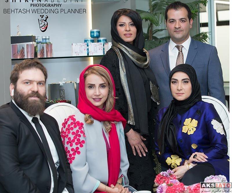بازیگران بازیگران زن ایرانی  شبنم قلی خانی در افتتاحیه سالن زیبایی الین (3 عکس)