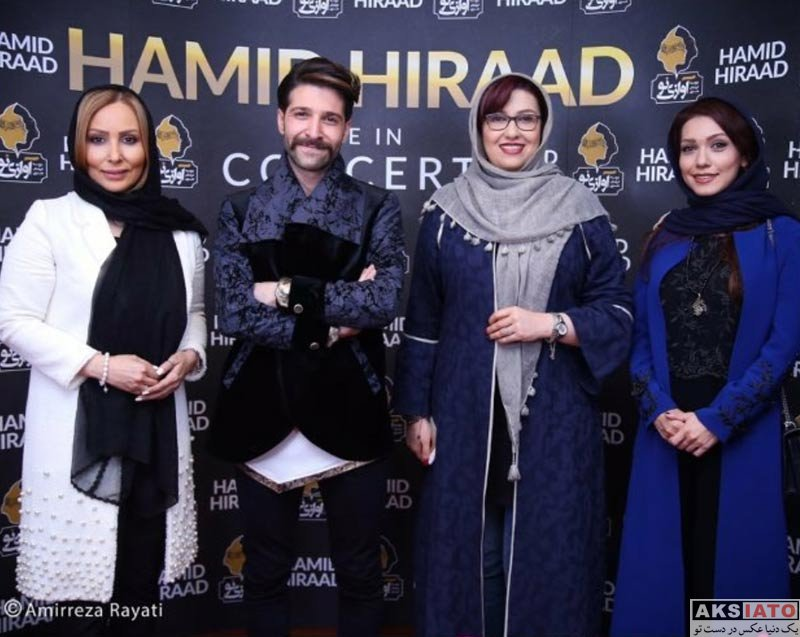 بازیگران بازیگران زن ایرانی  شهرزاد کمال زاده و پرستو صالحی در کنسرت حمید هیراد (4 عکس)