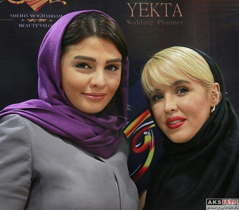بازیگران بازیگران زن ایرانی  سیما خضرآبادی در افتتاحیه سالن زیبایی شیدا مقدم (۲ عکس)