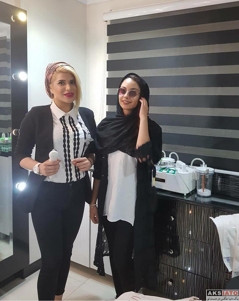 بازیگران بازیگران زن ایرانی  ترلان پروانه در سالن اسکوم تراپی (3 عکس)