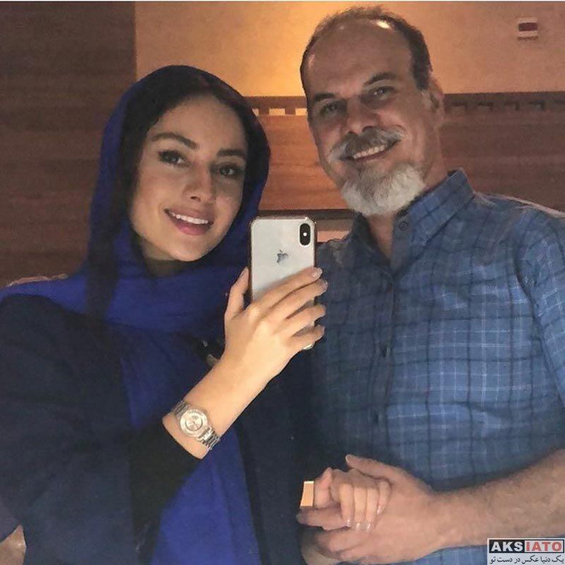 بازیگران بازیگران زن ایرانی  عکس سلفی ترلان پروانه با پدرش