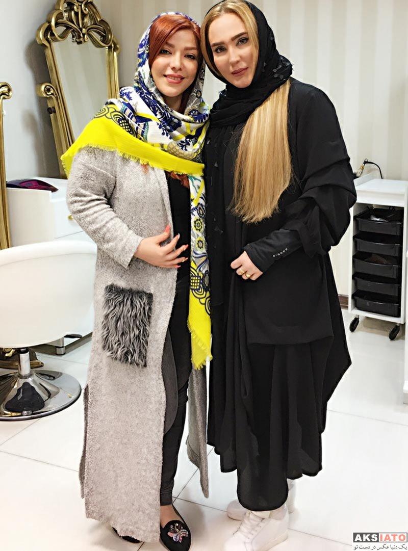 بازیگران بازیگران زن ایرانی  زهره فکور صبور در سالن زیبایی آنوشا (۳ عکس)
