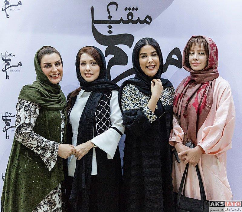 بازیگران بازیگران زن ایرانی  ماه چهره خلیلی در افتتاحیه سالن زیبایی مریم متقیان (۳ عکس)