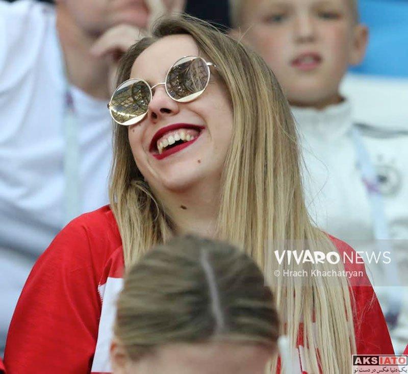 بازیگران  تماشاگران بازی تیم ملی آرژانتین و کرواسی (۱6 عکس)