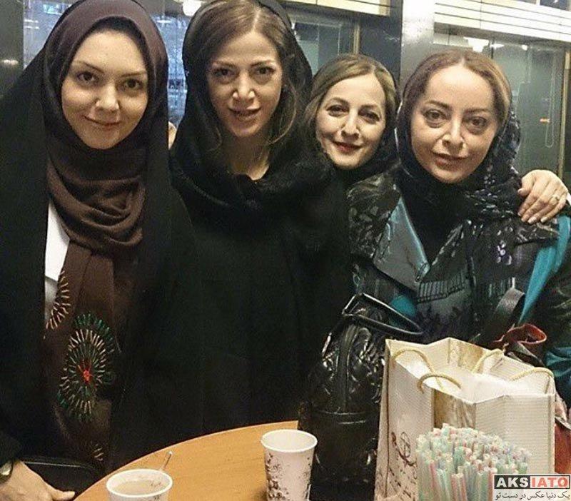 بازیگران مجریان  دورهمی آزاده نامداری با دوستان هنرمندش (2 عکس)