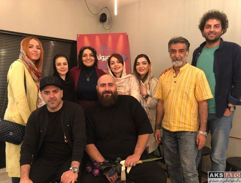 بازیگران بازیگران زن ایرانی  الناز حبیبی در اجرای نمایش کافه پولشری (3 عکس)