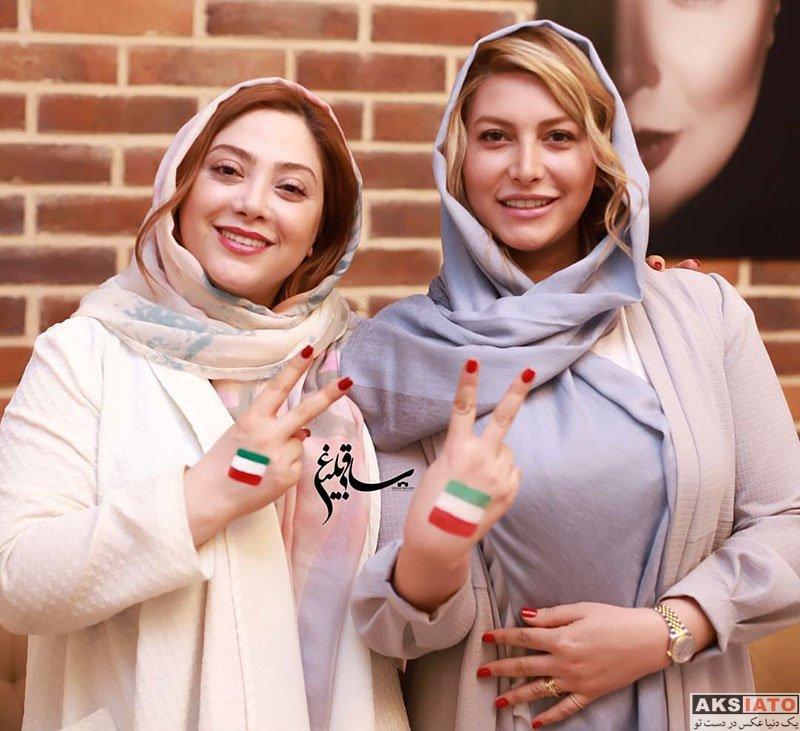 بازیگران بازیگران زن ایرانی  فریبا نادری در شب بازی تیم ملی با پرتغال (2 عکس)