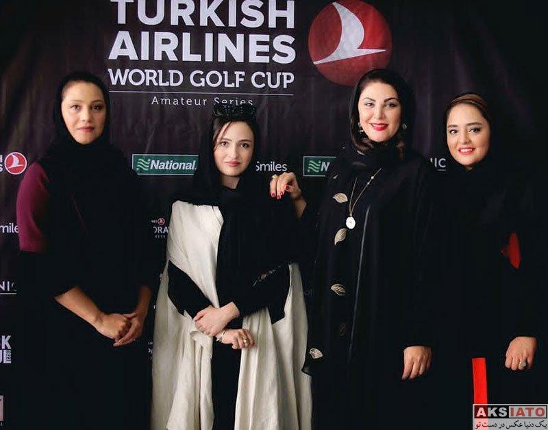 بازیگران بازیگران زن ایرانی  گلاره عباسی درمسابقات جهانى گلف تركيش ايرلاينز