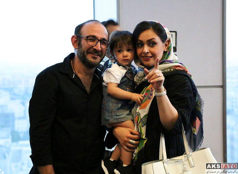 بازیگران بازیگران مرد ایرانی  هدایت هاشمی و همسرش در اکران فیلم دلم می خواد (2 عکس)