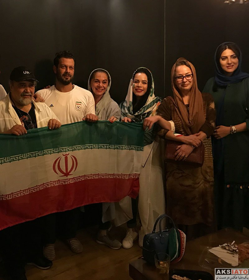 بازیگران بازیگران زن ایرانی  هلیا امامی در شب بازی تیم ملی با پرتغال (۳ عکس)