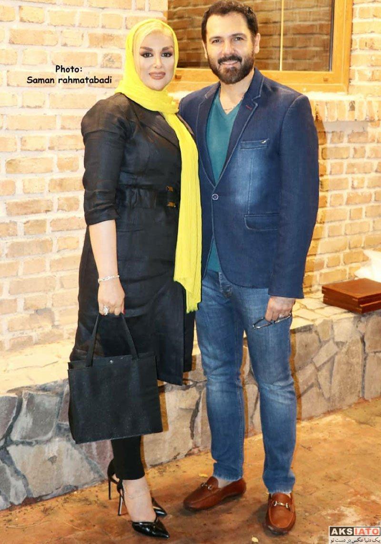 خانوادگی  کوروش تهامی و همسرش در مراسم مزایده لباس رونالدو و مسی (4 عکس)