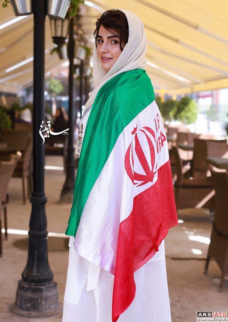 بازیگران بازیگران زن ایرانی  لاله مرزبان در شب بازی تیم ملی با پرتغال (۳ عکس)