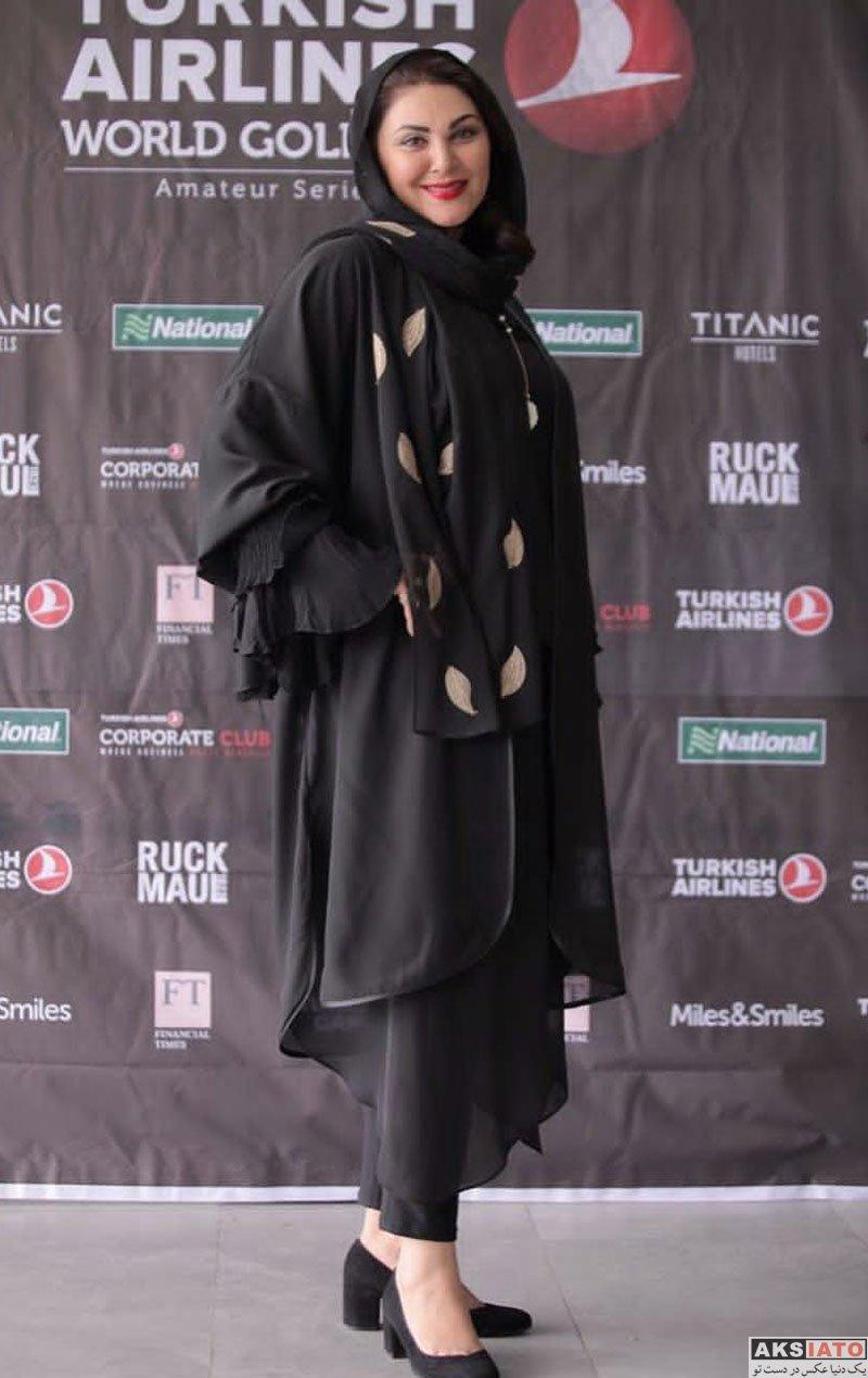 بازیگران بازیگران زن ایرانی  لاله اسکندری درمسابقات جهانى گلف ترکیش ایرلاینز (2 عکس)