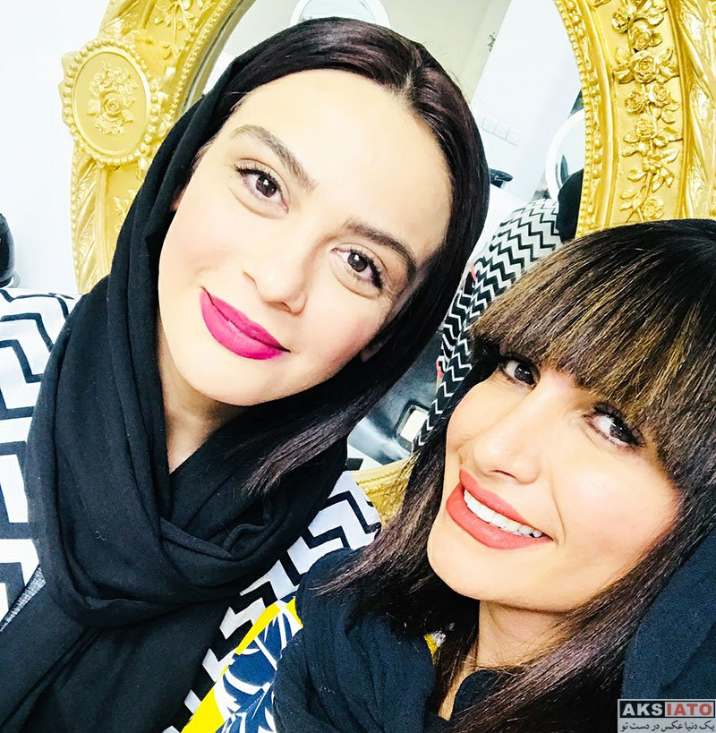 بازیگران بازیگران زن ایرانی  مارال فرجاد و صحرا فتحی در سالن زیبایی (3 عکس)